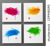 set of bright grunge... | Shutterstock .eps vector #139948390