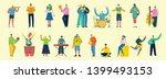 vector illustration in a flat... | Shutterstock .eps vector #1399493153