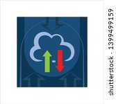cloud upload icon  upload to... | Shutterstock .eps vector #1399499159