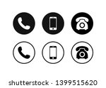 phone icon vector. set... | Shutterstock .eps vector #1399515620