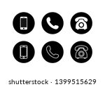 phone icon vector. set... | Shutterstock .eps vector #1399515629