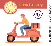 pizza delivery man on a moped....