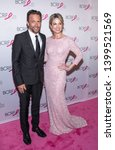 Small photo of New York, NY, USA - May 15, 2019: Andrew Shue and Amy Robach attend the Breast Cancer Research Foundation 2019 Hot Pink Party at Park Avenue Armory, Manhattan