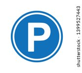 Round Blue Parking Sign With...
