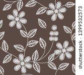 abstract flower seamless... | Shutterstock . vector #1399532573