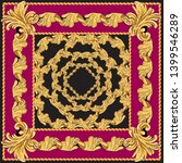 scarf with a pattern of gold... | Shutterstock .eps vector #1399546289