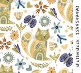 seamless vector tribal pattern... | Shutterstock .eps vector #1399549490