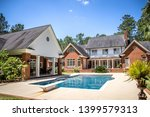 large blue swimming pool... | Shutterstock . vector #1399579313
