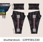 leggings pants vector for gym... | Shutterstock .eps vector #1399581230