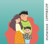 happy family day on blue... | Shutterstock .eps vector #1399583159