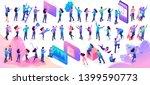 large set of isometric... | Shutterstock .eps vector #1399590773
