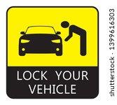 lock your vehicle  car parking... | Shutterstock .eps vector #1399616303