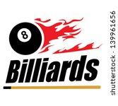 billiards symbol | Shutterstock .eps vector #139961656