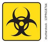 biohazard symbol drawing by... | Shutterstock .eps vector #1399618766