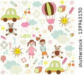 cute children's seamless pattern | Shutterstock .eps vector #139963150