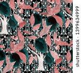 watercolor seamless pattern... | Shutterstock . vector #1399634999