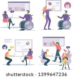 office workers discuss company... | Shutterstock .eps vector #1399647236