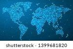 vector world map   global... | Shutterstock .eps vector #1399681820