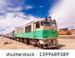 train at oruro railway station. ... | Shutterstock . vector #1399689389
