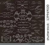 calligraphic design elements... | Shutterstock .eps vector #139969030