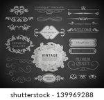 retro calligraphic design... | Shutterstock .eps vector #139969288