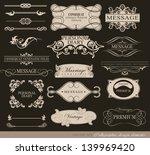 retro typography  calligraphic... | Shutterstock .eps vector #139969420