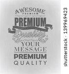 typography  calligraphic design ... | Shutterstock .eps vector #139969423
