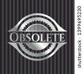 obsolete silver shiny emblem .... | Shutterstock .eps vector #1399695230