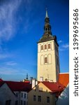 st nicholas church  estonian ... | Shutterstock . vector #1399695686