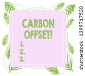 text sign showing carbon offset.... | Shutterstock . vector #1399717520