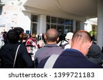 cannes france may 16 2019 fan... | Shutterstock . vector #1399721183