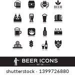 beer icons set 2  black solid... | Shutterstock .eps vector #1399726880