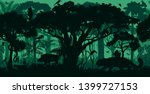 vector horizontal seamless... | Shutterstock .eps vector #1399727153