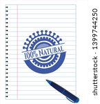 100  natural draw with pen... | Shutterstock .eps vector #1399744250