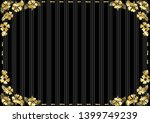 hibiscus flower and stitch frame | Shutterstock .eps vector #1399749239