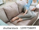 close up focus on legs cramps... | Shutterstock . vector #1399758899