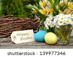 Tulips  Daisies Eggs And Easter ...