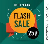 flash sale banner. web banner... | Shutterstock .eps vector #1399784213
