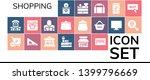 shopping icon set. 19 filled... | Shutterstock .eps vector #1399796669