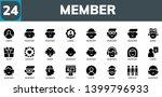 member icon set. 24 filled... | Shutterstock .eps vector #1399796933