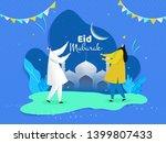 eid mubarak poster or banner... | Shutterstock .eps vector #1399807433