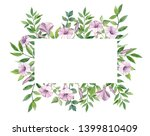 hand drawn watercolor label... | Shutterstock . vector #1399810409