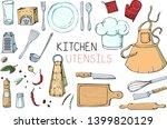 set of hand drawn illustration... | Shutterstock .eps vector #1399820129