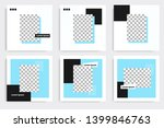 editable square abstract... | Shutterstock .eps vector #1399846763