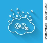 white co2 emissions in cloud... | Shutterstock .eps vector #1399848350