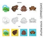 vector design of wildlife and... | Shutterstock .eps vector #1399852643