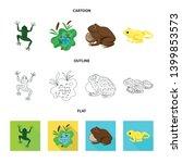 vector design of wildlife and... | Shutterstock .eps vector #1399853573