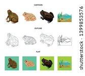 vector design of wildlife and... | Shutterstock .eps vector #1399853576