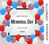 memorial day background with... | Shutterstock .eps vector #1399857770