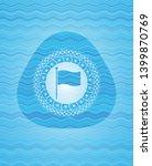flag icon inside light blue...   Shutterstock .eps vector #1399870769
